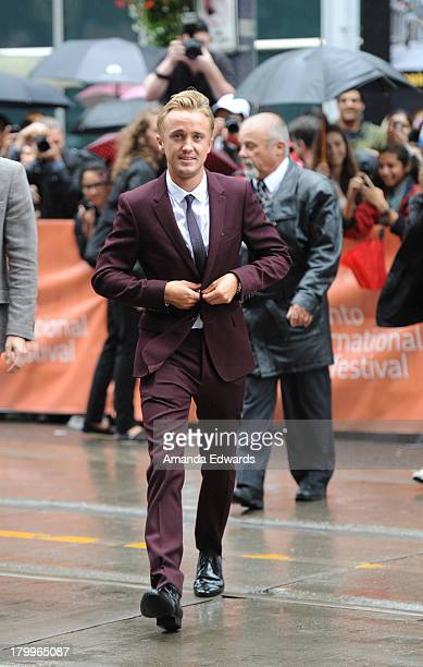 Actor Tom Felton attends the 'Therese' premiere during the 2013 Toronto International Film Festival at Isabel Bader Theatre on September 7 2013 in...