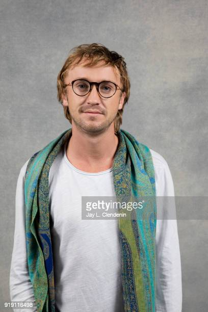 Actor Tom Felton from the film 'Ophelia' is photographed for Los Angeles Times on January 22 2018 in the LA Times Studio at Chase Sapphire on Main...