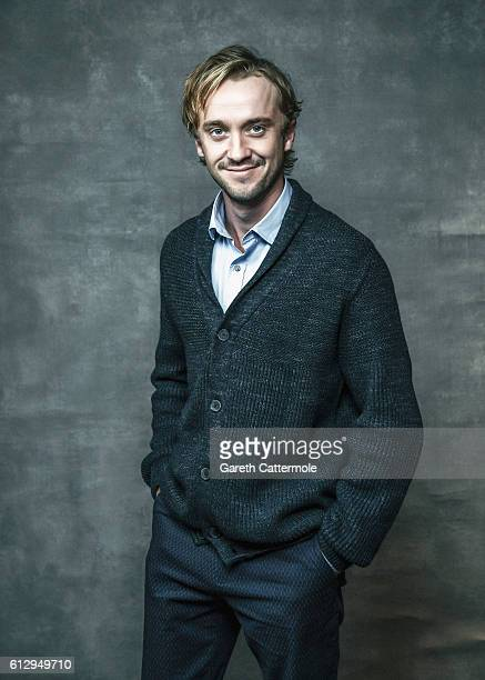 Actor Tom Felton is photographed during the 60th BFI London Film Festival at The Mayfair Hotel on October 5 2016 in London England
