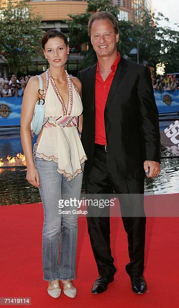 """Actor Tom Gerhardt and his wife Katharina Gerhardt arrive at the German premiere of """"Poseidon"""" July 11, 2006 at the Berlinale Palast in Berlin,..."""