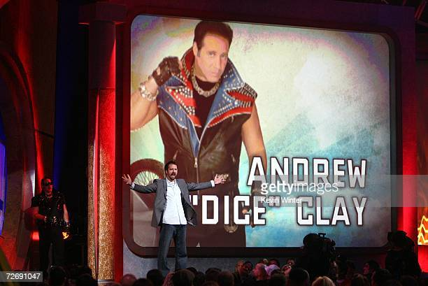 Actor Tom Green and comedian Andrew Dice Clay appear onstage at Arby's Action Sports Awards at Center Stage on November 30 2006 in Burbank California