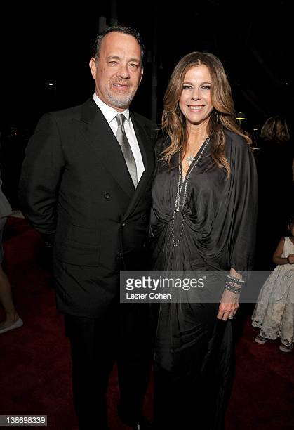 Actor Tom Hank and actress Rita Wilson arrive at The 2012 MusiCares Person of The Year Gala Honoring Paul McCartney at Los Angeles Convention Center...