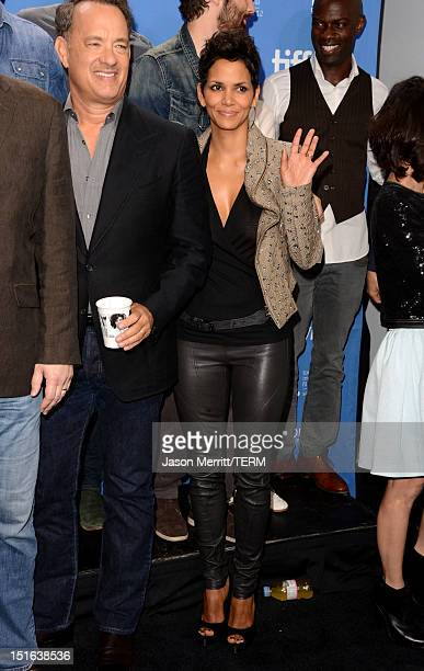 Actor Tom Hanks and actress Halle Berry attend Cloud Atlas Photo Call during the 2012 Toronto International Film Festival at TIFF Bell Lightbox on...