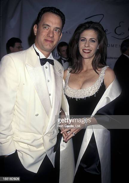 Actor Tom Hanks and actress Rita Wilson attend the Eighth Annual Fire Ice Ball to Benefit Revlon/UCLA Women's Cancer Research on December 3 1997 at...