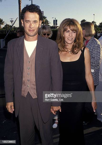 Actor Tom Hanks and actress Rita Wilson attend the Forrest Gump Hollywood Premiere on June 23 1994 at the Paramount Studios in Hollywood California