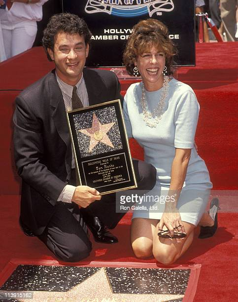 Actor Tom Hanks and actress Rita Wilson attends the Hollywood Walk of Fame Star Ceremony to Honor Tom Hanks on June 30 1992 at 7030 Hollywood...