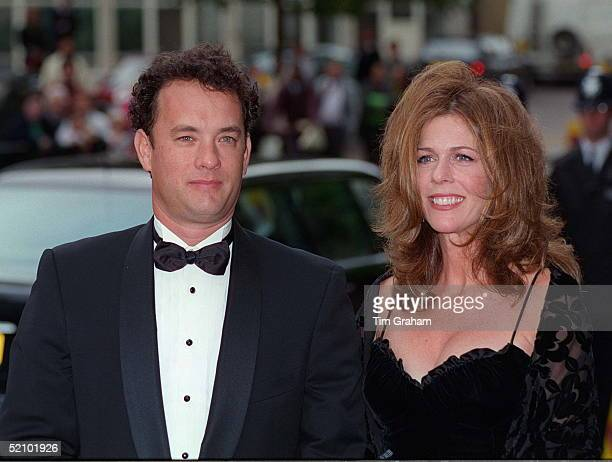 Actor Tom Hanks And His Wife Rita Wilson At The Film Preview Of 'apollo 13' Film In London