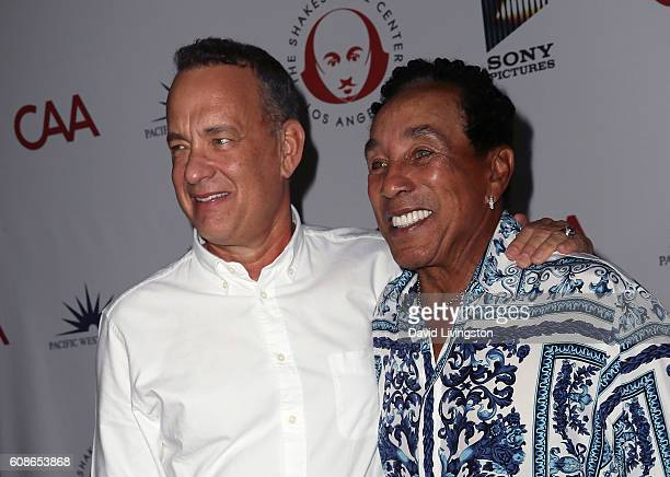 Actor Tom Hanks and recording artist Smokey Robinson attend the 26th Annual Simply Shakespeare benefit at Freud Playhouse UCLA on September 19 2016...