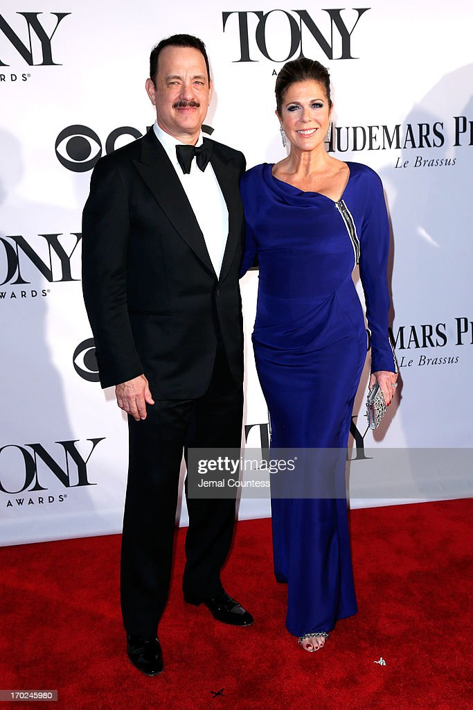Actor Tom Hanks and Rita Wilson attend The 67th Annual Tony Awards at Radio City Music Hall on June 9, 2013 in New York City.