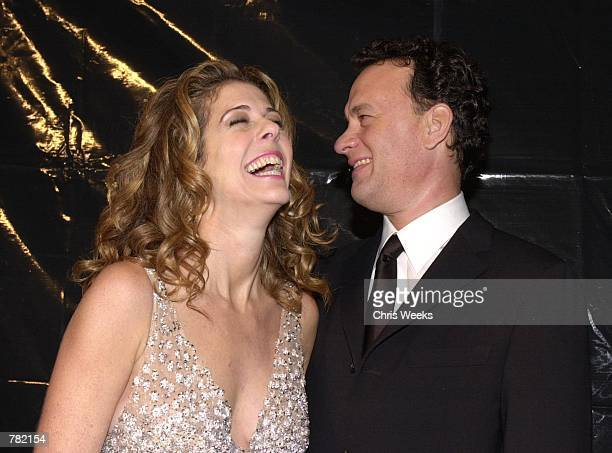 Actor Tom Hanks and wife Rita Wilson arrive at Valentino's 40th Anniversary Los Angeles event November 17 2000 at the Pacific Design Center in West...