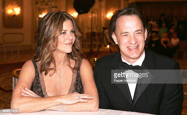 Actor Tom Hanks and wife Rita Wilson attend the 2005 Saint John's Health Center Gala Caritas Award, where Tom Hanks and Rita Wilson were honored, at...