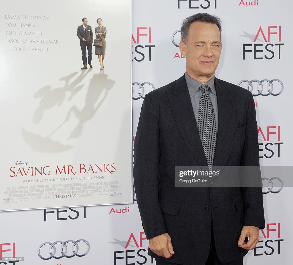 Actor Tom Hanks arrives at AFI FEST 2013 Opening Night Gala premiere of 'Saving Mr. Banks' at TCL Chinese Theatre on November 7, 2013 in Hollywood, California.