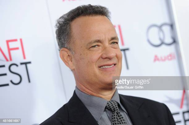 Actor Tom Hanks arrives at AFI FEST 2013 Opening Night Gala premiere of 'Saving Mr Banks' at TCL Chinese Theatre on November 7 2013 in Hollywood...