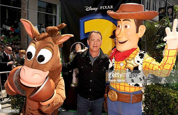 Actor Tom Hanks arrives at premiere of Walt Disney Pictures' Toy Story 3 held at El Capitan Theatre on June 13 2010 in Hollywood California