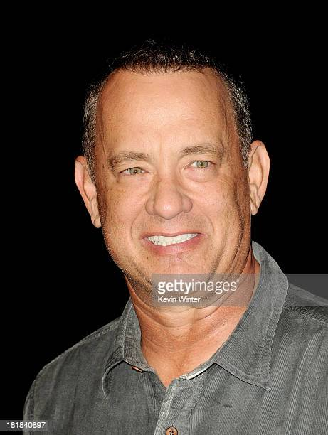 Actor Tom Hanks arrives at the 23rd Annual Simply Shakespeare Benefit reading of The Two Gentleman of Verona at The Broad Stage on September 25 2013...