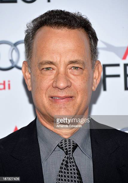 Actor Tom Hanks arrives at the AFI FEST 2013 Presented By Audi Disney's Saving Mr Banks Opening Night Gala Premiere at the TCL Chinese Theatre on...