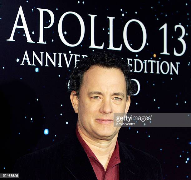 Actor Tom Hanks arrives at Universal Home Studio's 35 Anniversary salute and DVD release of 'Apollo 13' at the California Science Center's IMAX...