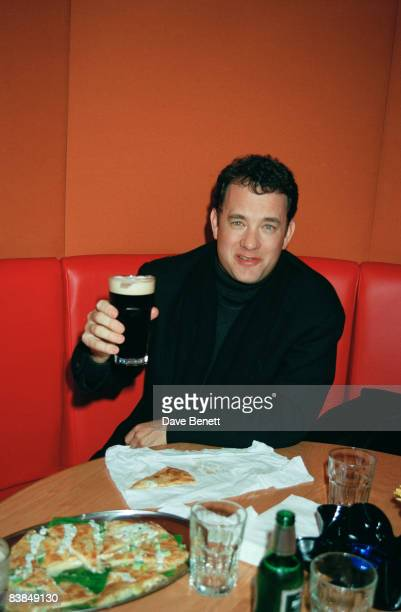 Actor Tom Hanks at the London premiere after-party for 'That Thing You Do!', 9th January 1997.