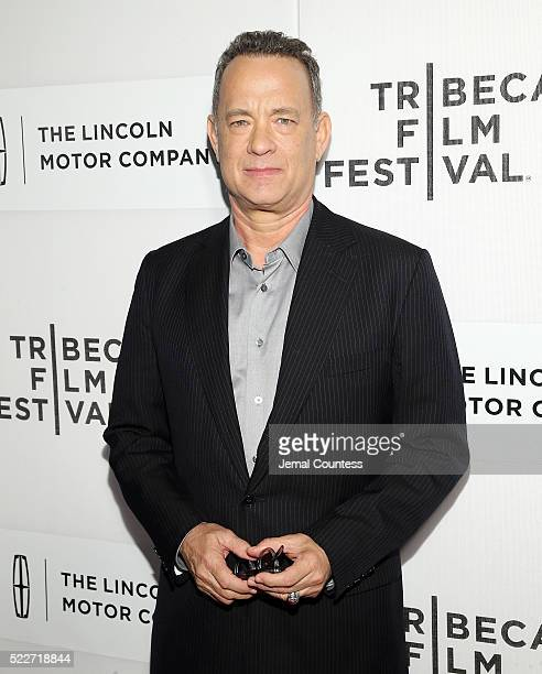 Actor Tom Hanks attends 'A Hologram For The King' World Premiere at the John Zuccotti Theater at BMCC Tribeca Performing Arts Center on April 20 2016...