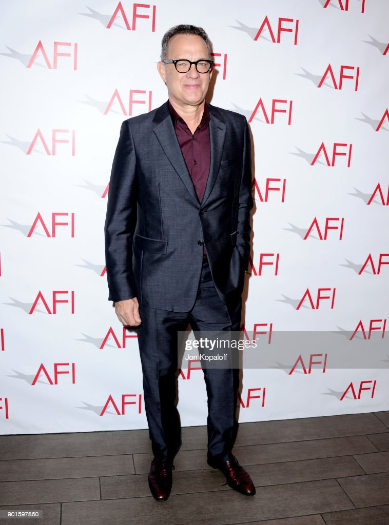 Actor Tom Hanks attends the 18th Annual AFI Awards at Four Seasons Hotel Los Angeles at Beverly Hills on January 5, 2018 in Los Angeles, California.