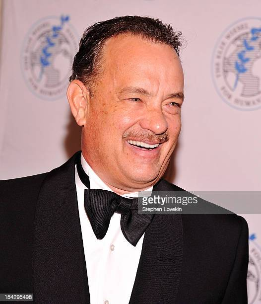 Actor Tom Hanks attends the 2012 Arts For Humanity Gala at New York Public Library on October 17 2012 in New York City
