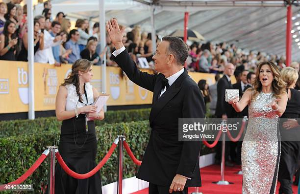 Actor Tom Hanks attends the 20th Annual Screen Actors Guild Awards at The Shrine Auditorium on January 18, 2014 in Los Angeles, California.