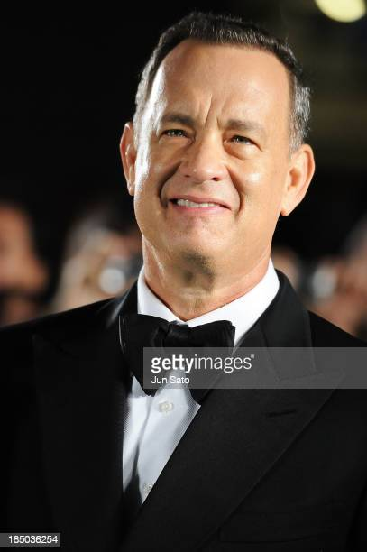 Actor Tom Hanks attends the 26th Tokyo International Film Festival Opening Ceremony at Roppongi Hills on October 17 2013 in Tokyo Japan