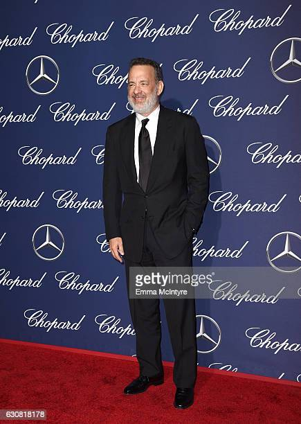 Actor Tom Hanks attends the 28th Annual Palm Springs International Film Festival Film Awards Gala at the Palm Springs Convention Center on January 2...