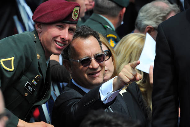 US Actor Tom Hanks Attends The 65th D Day Anniversary Ceremony On June 6