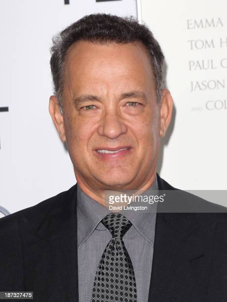 Actor Tom Hanks attends the AFI FEST 2013 presented by Audi premiere of Walt Disney Pictures' Saving Mr Banks at TCL Chinese Theatre on November 7...