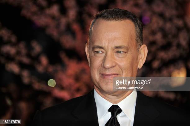 Actor Tom Hanks attends the Closing Night Gala European Premiere of Saving Mr Banks during the 57th BFI London Film Festival at Odeon Leicester...