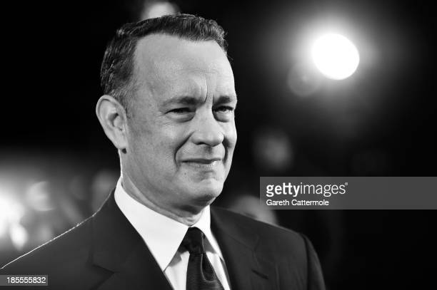 Actor Tom Hanks attends the Closing Night Gala European Premiere of 'Saving Mr Banks' during the 57th BFI London Film Festival at Odeon Leicester...