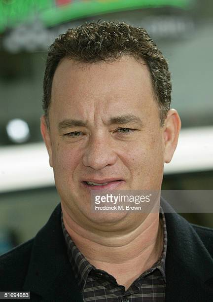 Actor Tom Hanks attends the film premiere of The Polar Express at Grauman's Chinese Theater on November 7 2004 in Hollywood California