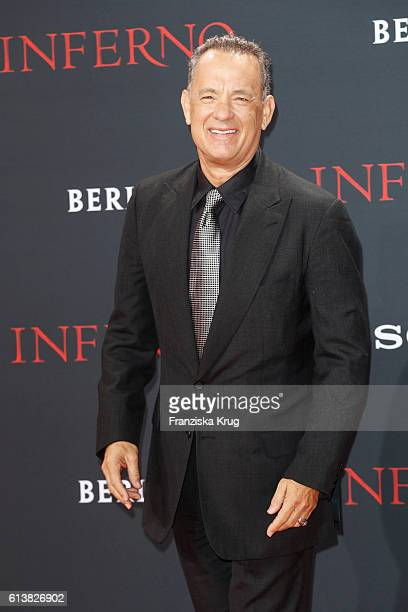 Actor Tom Hanks attends the German premiere of the film 'INFERNO' at Sony Centre on October 10 2016 in Berlin Germany