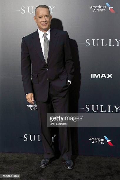 """Actor Tom Hanks attends The New York Premiere of Warner Bros. Pictures' and Village Roadshow Pictures' """"Sully"""" at Alice Tully Hall at Lincoln Center..."""
