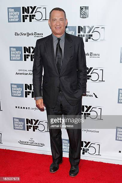Actor Tom Hanks attends the opening night gala world premiere of 'Captain Phillips' during the 51st New York Film Festival at Alice Tully Hall at...