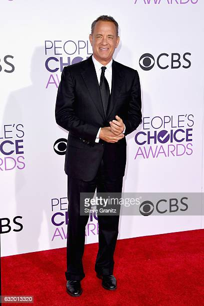 Actor Tom Hanks attends the People's Choice Awards 2017 at Microsoft Theater on January 18 2017 in Los Angeles California
