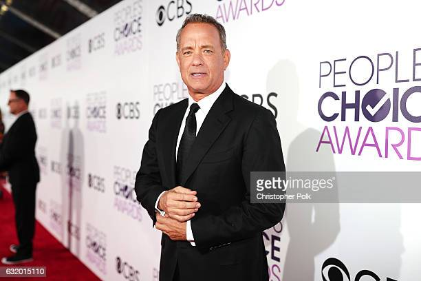 Actor Tom Hanks attends the People's Choice Awards 2017 at Microsoft Theater on January 18, 2017 in Los Angeles, California.