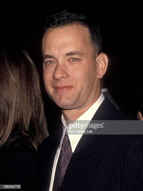 Actor Tom Hanks attends the 'Philadelphia' Century City Premiere on December 14 1993 at Cineplex Odeon Century Plaza Cinemas in Century City...