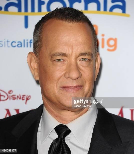 Actor Tom Hanks attends the premiere of Saving Mr Banks at Walt Disney Studios on December 9 2013 in Burbank California