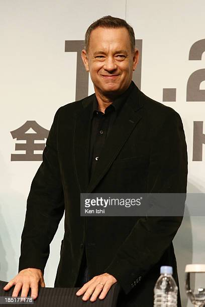 """Actor Tom Hanks attends the press conference for """"Captain Phillips""""at Tokyo Midtown on October 18, 2013 in Tokyo, Japan."""