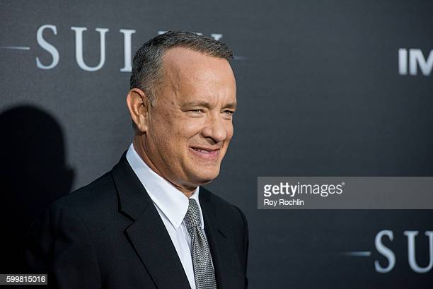 """Actor Tom Hanks attends the """"Sully"""" New York premiere at Alice Tully Hall, Lincoln Center on September 6, 2016 in New York City."""