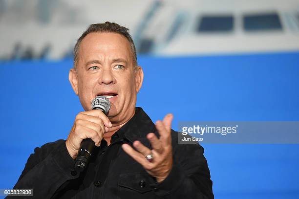 Actor Tom Hanks attends the Sully Tokyo Premiere at Yurakucho Mullion on September 15 2016 in Tokyo Japan