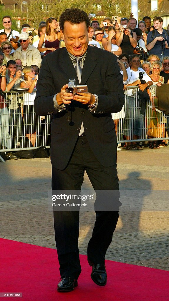 Actor Tom Hanks attends the 'The Terminal' premiere at the 30th Deauville American Film Festival on September 4, 2004 in Deauville, France.