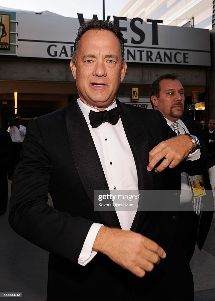 Actor Tom Hanks backstage at the 61st Primetime Emmy Awards held at the Nokia Theatre on September 20, 2009 in Los Angeles, California.