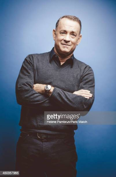 Actor Tom Hanks is photographed for Paris Match on October 13 2013 in Paris France