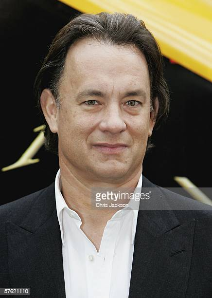 Actor Tom Hanks poses during a photocall for new film The Da Vinci Code at Eurostar's Waterloo International Terminal on May 16 2006 in London...