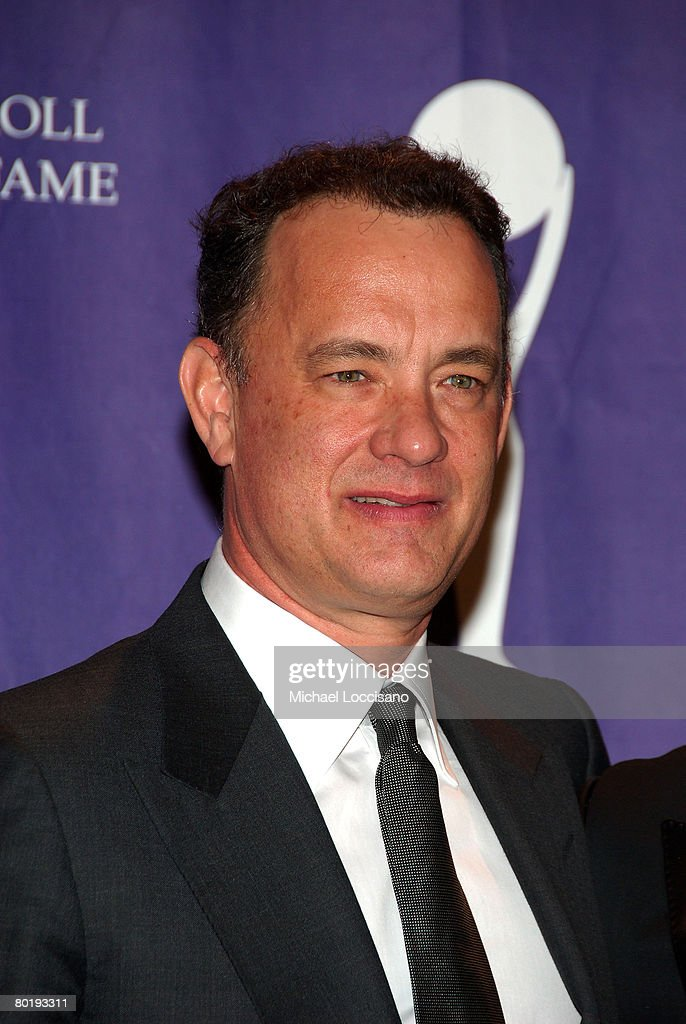 Actor Tom Hanks poses in the press room at the 2008 Rock and Roll Hall of Fame Induction Ceremony at The Waldorf-Astoria Hotel on March 10, 2008 in New York City.