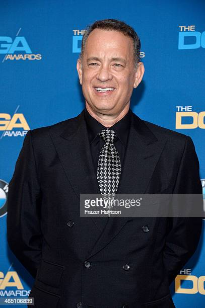 Actor Tom Hanks poses in the press room during the 66th Annual Directors Guild Of America Awards held at the Hyatt Regency Century Plaza on January...