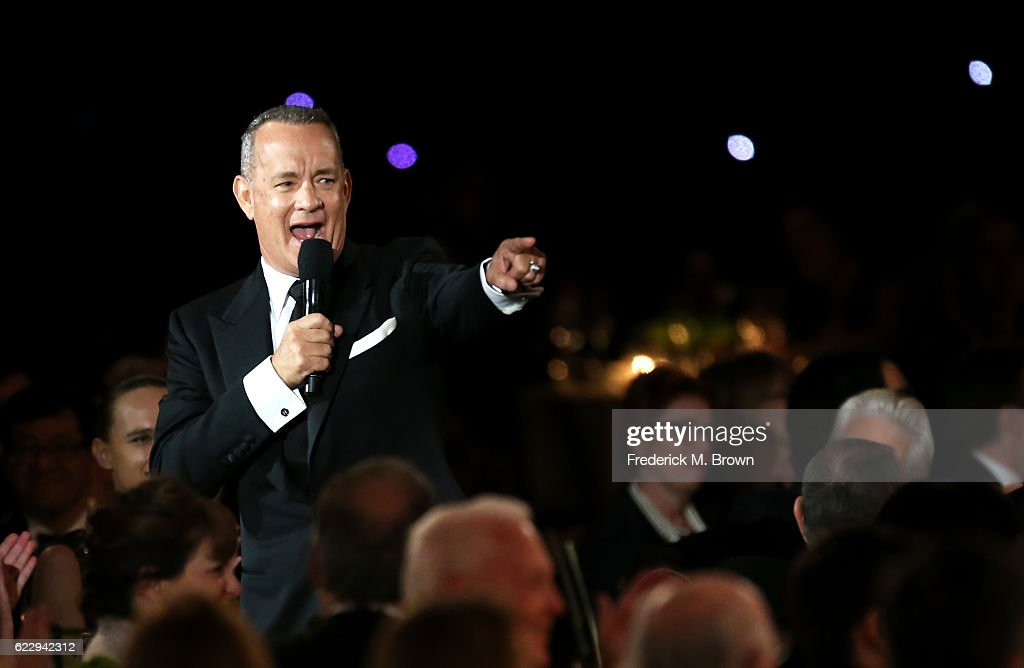 Actor Tom Hanks speaks during the Academy of Motion Picture Arts and Sciences' 8th annual Governors Awards at The Ray Dolby Ballroom at Hollywood & Highland Center on November 12, 2016 in Hollywood, California.